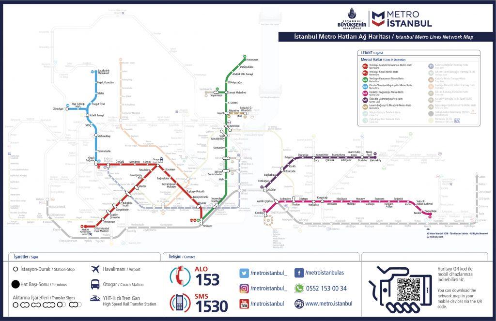 نقشه  کلیه خطوط مترو استانبول +pdf وjpg